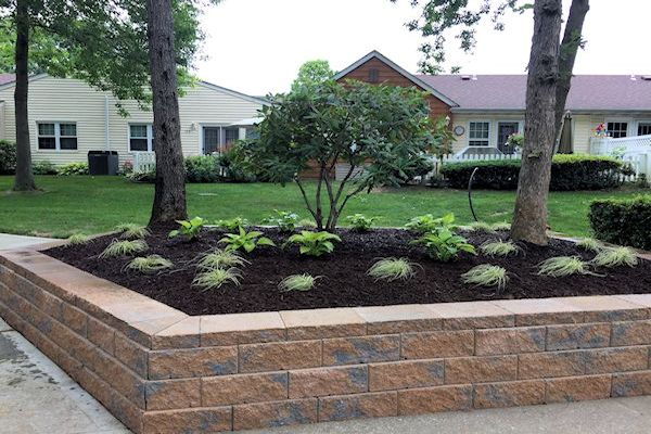 Constructing A Retaining Wall: Finished Project